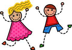 Stitch Kids Stock Illustration