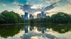 Piedmont Park Atlanta GA Stock Footage