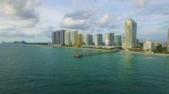 Aerial video Sunny Isles Beach Florida 5 Stock Footage