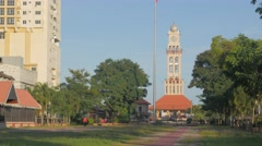 Padang Merdeka with tower,Kota Bharu,Kelantan,Malaysia Stock Footage