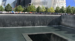 Nine eleven memorial New York 4K UHD - stock footage