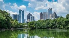 Piedmont Park Atlanta Stock Footage