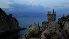 Swallow's Nest, Crimea, Russia Stock Footage