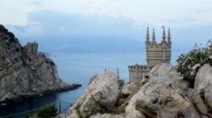 Swallow's Nest, Crimea, Russia - stock footage