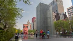Chicago Crown Fountain Timelapse - stock footage