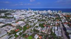 Aerial video Miami Beach FL Stock Footage