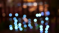 Holiday seasons night city is defocused with nice bokeh background Stock Footage