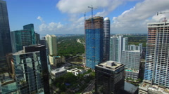 Brickell City Center aerial video 2 Stock Footage