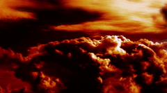 Burning Blowing Clouds Time Lapse Epic Cinematic Stock Footage