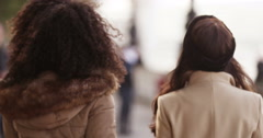 Girlfriends spending time together in a city. Shot on RED Epic. - stock footage