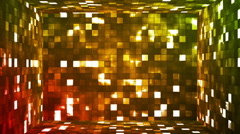 Broadcast Firey Light Hi-Tech Squares Room, Multi Color, Events, Loopable, HD Stock Footage