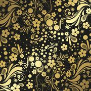 Black and gold precious background - stock illustration