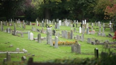 Cemetery in Europe Stock Footage