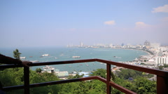Top view of Pattaya bay , Thailand - stock footage