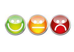 Glossy mood emoticons Stock Illustration