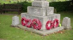 European World War 2 Memorial tilt Stock Footage