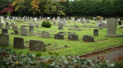 Cemetery / graveyard in England Stock Footage
