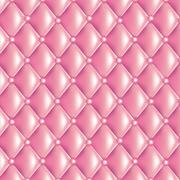 Pink quilted texture - stock illustration
