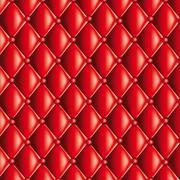 Red quilted texture - stock illustration