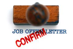 Job offer letter confirm - stock illustration