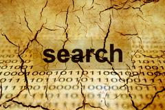 Stock Illustration of Search tag on cracked binary data