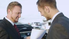 Business conversation in the yacht club - stock footage