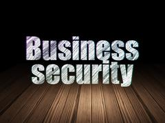 Safety concept: Business Security in grunge dark room Piirros