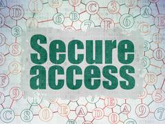 Stock Illustration of Protection concept: Secure Access on Digital Paper background