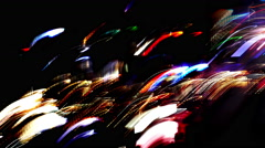 Random Lights Captured at Long Exposure Stock Footage