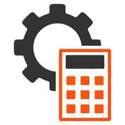 Engineering Calculations Flat Icon - stock illustration
