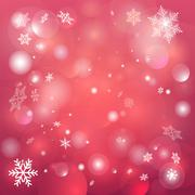 winter background with snowflakes - stock illustration
