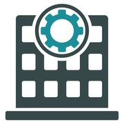 Corporation Flat Icon - stock illustration