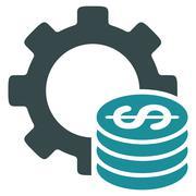 Development Cost Flat Icon Stock Illustration