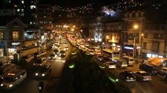 Traffic on a main road Avenida Ismael Montes Stock Footage