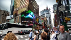 Time lapse, People crossing the road 5Th Stock Footage