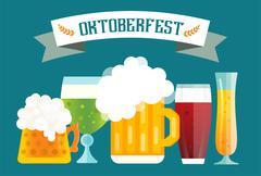 Stock Illustration of Beer bottle sign vector icons set