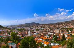 Stock Photo of Cityscape of Sarajevo - Bosnia and Herzegovina
