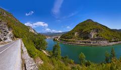 Stock Photo of Old Bridge on Drina river in Visegrad - Bosnia and Herzegovina