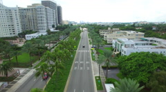 Aerial video Bal Harbour Collins Avenue Stock Footage
