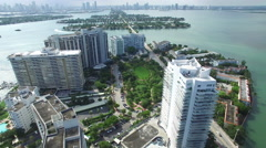 Aerial Belle Isle Miami Beach FL 2 - stock footage