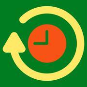 Repeat Clock Icon - stock illustration