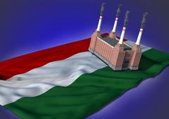 national heavy industry concept - Hungarian theme - stock illustration