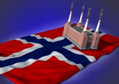 national heavy industry concept - Norwegian theme - stock illustration