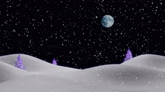 New Years Eve Christmas 3d winter composite background 4K Stock Footage