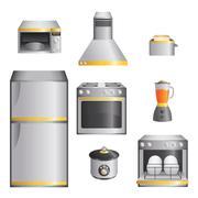 Kitchen appliances Stock Illustration