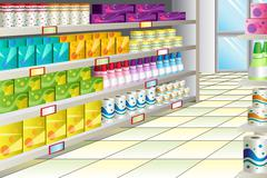 Stock Illustration of Grocery store aisle