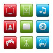Electronic entertainment icons Piirros