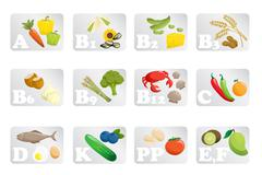 Food vitamin Stock Illustration