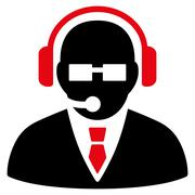 Support Manager Icon Stock Illustration
