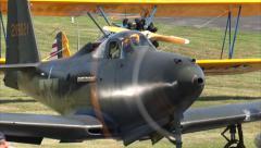 Bell P-63 Kingcobra Shut Down Stock Footage